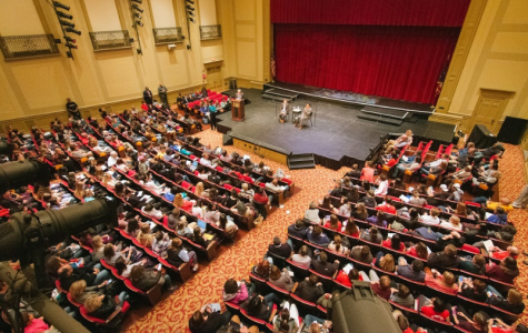 Over 900 Students, teachers and community members filled the large auditorium Nov. 8.