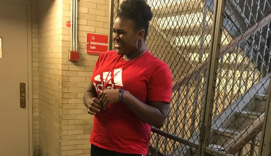 Freshman Rielle Hubbard said insecurities kept her from trying out for the eighth-grade cheerleading team.