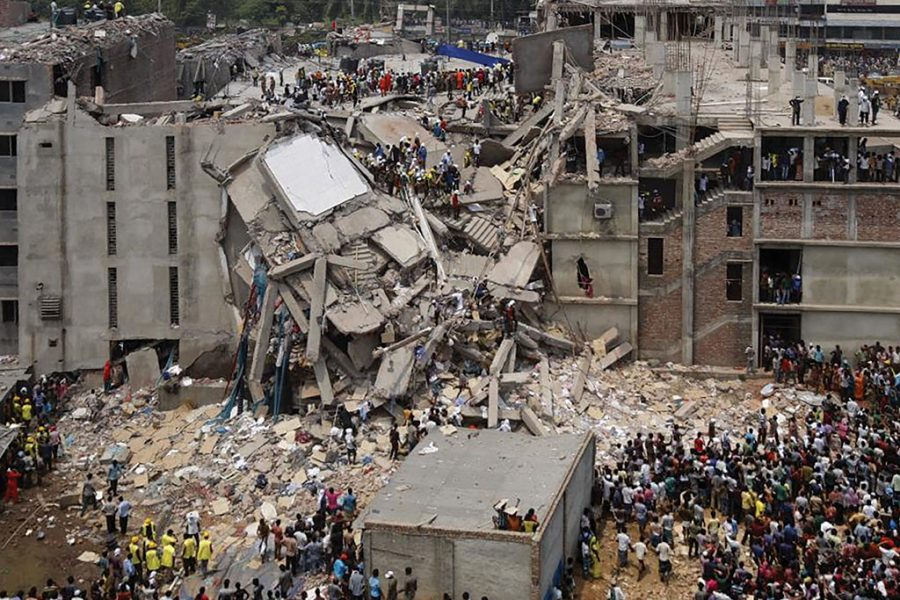 In 2013, a garment factory in Dhaka, Bangladesh collapsed, killing more than 1,000 workers.