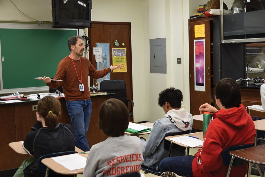 Science teacher John O'Verko said each year he interacts with his students differently based on their personalities.