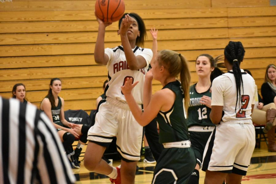 Sophomore Tahsja Jackson goes for a layup against Strongsville