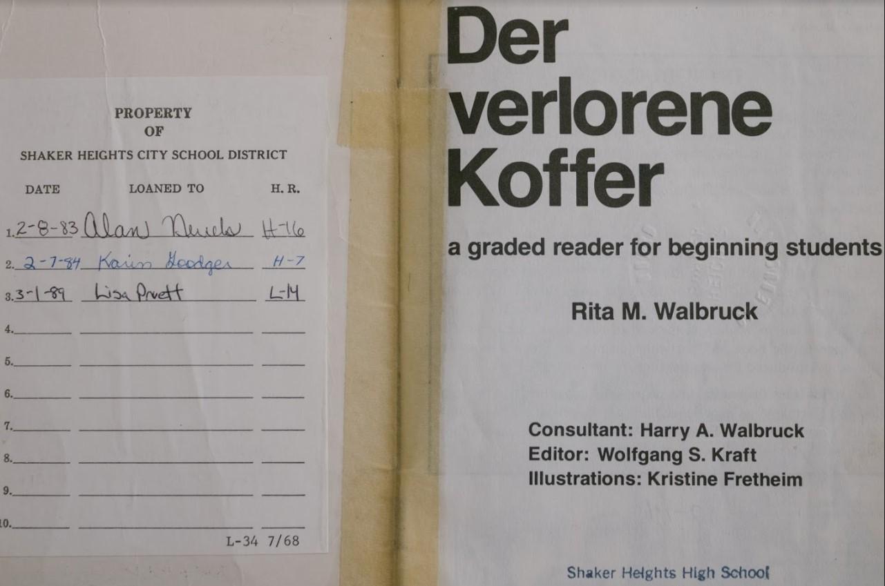Lisa Pruett's name in a German textbook brings back her memories.