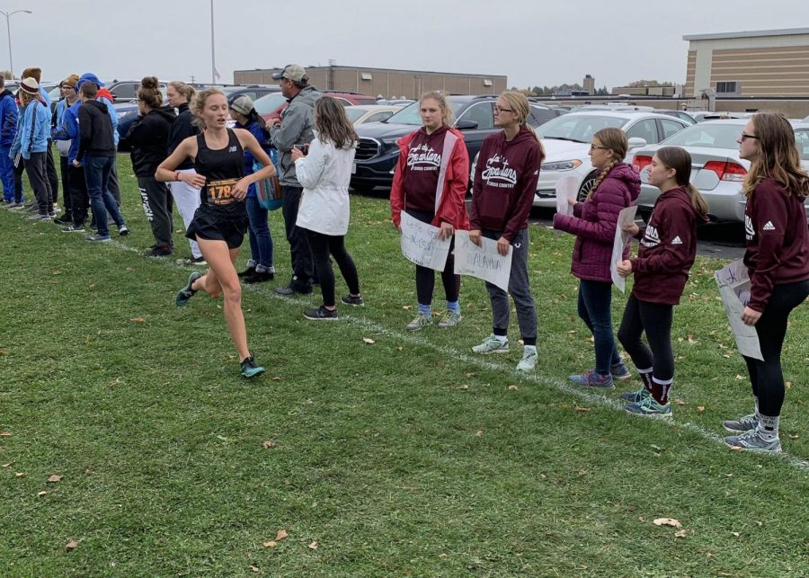 Junior Avery Blaszak runs at the OHSAA Regional cross country meet on Saturday.