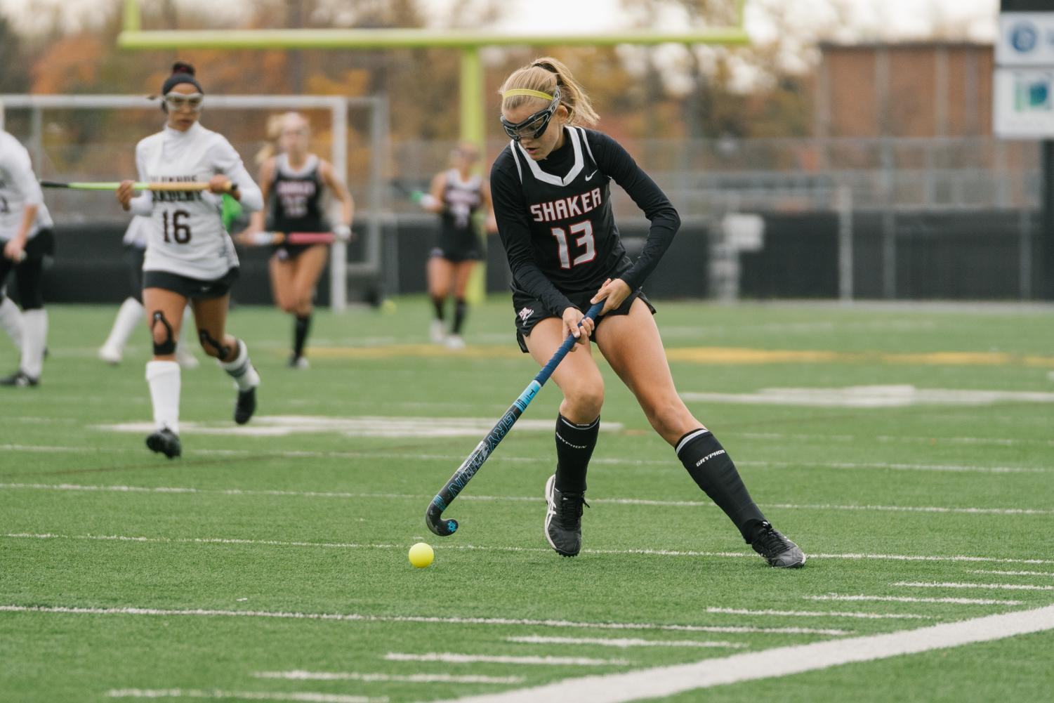 Junior  Eliza Bennett plays in the OHSAA State Championship Field Hockey Game against Columbus Academy.