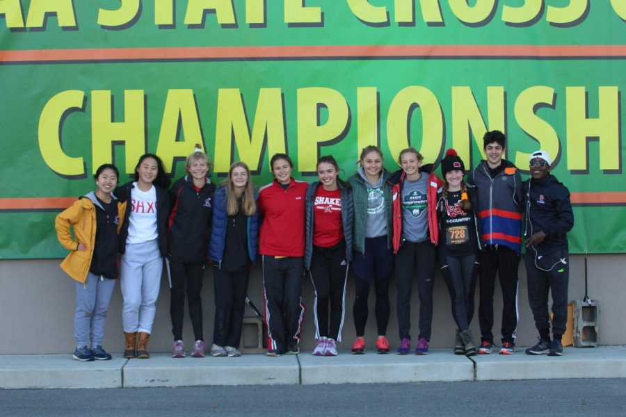 Shaker runners at the State Cross Country meet on Saturday