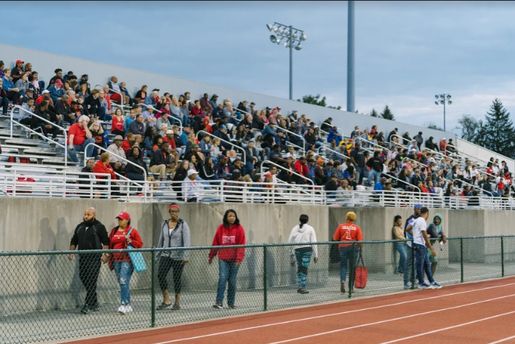 Fans at the football game versus Benedictine on Sept. 8.