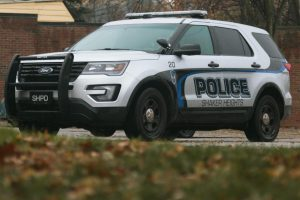 A Shaker police officer was fired for making an obscene gesture to BLM protesters last fall.