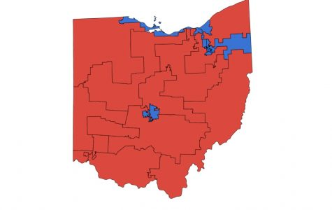 The partisan breakdown of Ohio's congressional districts since 2012.