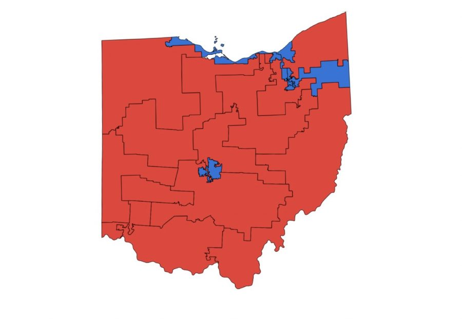 The+partisan+breakdown+of+Ohio%E2%80%99s+congressional+districts+since+2012.