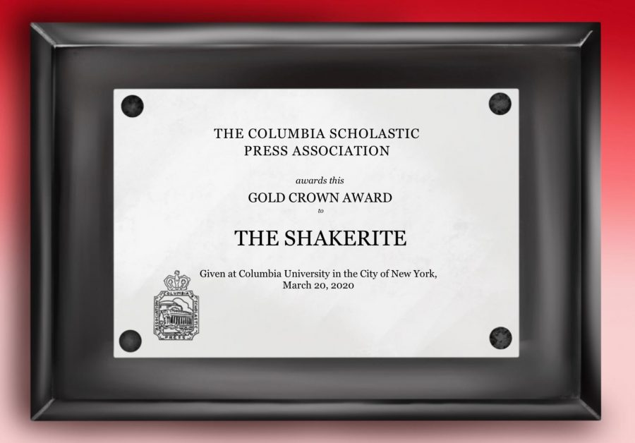 The Shakerite Wins Sixth Crown Award in Seven Years