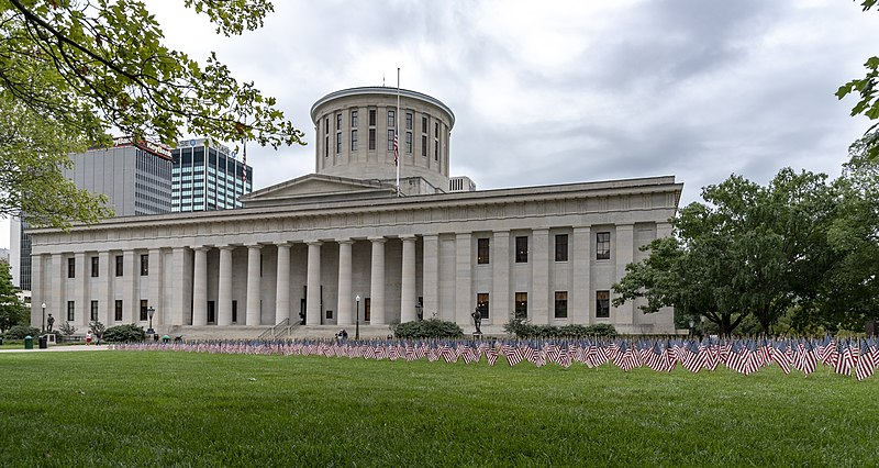 The Ohio General Assembly is expected to reconvene sometime this week at the Ohio Statehouse, pictured above, where they will decide on measures relating to COVID-19 and possibly cancel the remainder of this school year's state-mandated testing.