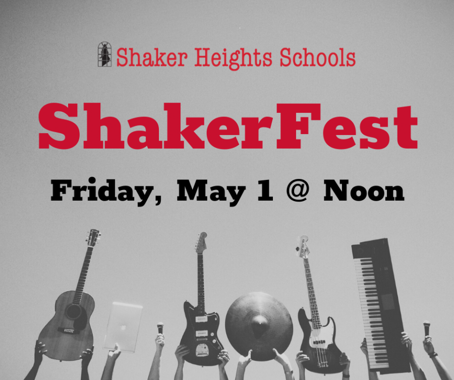 Shakerfest 2020, a socially-distanced concert, will take place May 1
