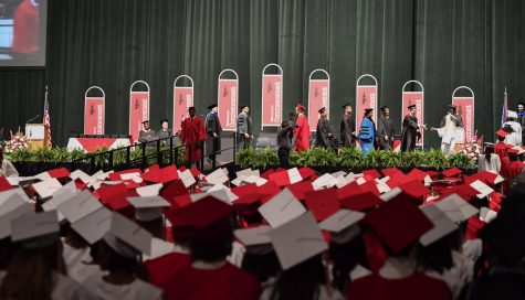 The class of 2019 walk across the stage at the CSU Wolstein Center for their commencement.