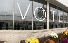 The outside of The Cuyahoga County Board of Elections,