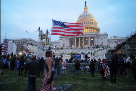 Pro-Trump protesters breech the Capitol on Jan. 6.