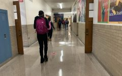 Students travel to their sixth period class on Friday, Feb 5.