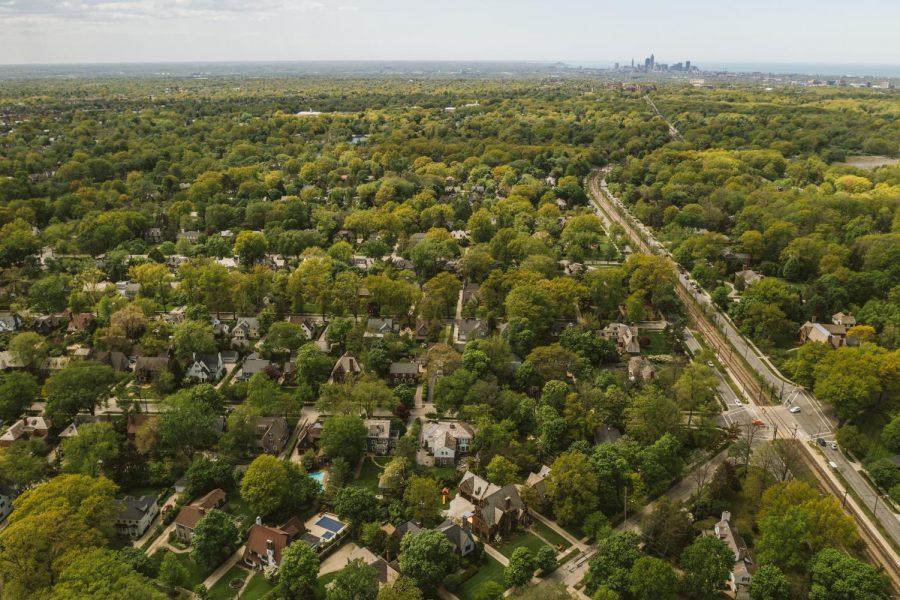 Birdseye view of Shaker Heights.
