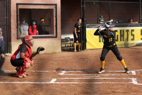Shaker plays Cleveland Heights, a member of the LEL, in a softball game on April 26.