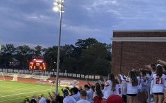 The Shaker Field Hockey team defeated Hathaway Brown 4-0 in front of an excited student section dressed in all white for the first game under the lights.